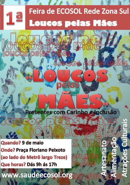 Feira de ECOSOL, dia das Mães, Zona Sul – 09 de Maio (sexta-feira)