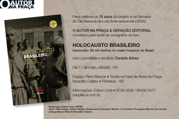 """Daniela Arbex em tarde de autógrafos do livro """"Holocausto Brasileiro - Genocídio: 60 mil mortos no maior hospício do Brasil"""""""
