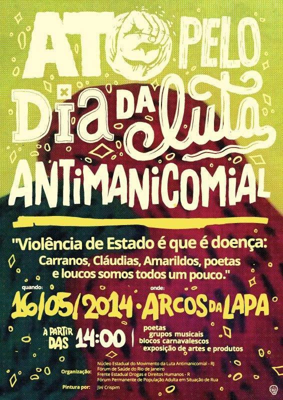 Ato pelo dia da luta antimanicomial - Rio de Janeiro