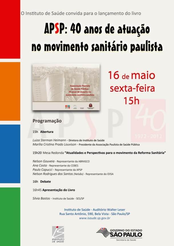 APSP: 40 anos de atuação no movimento sanitário paulista