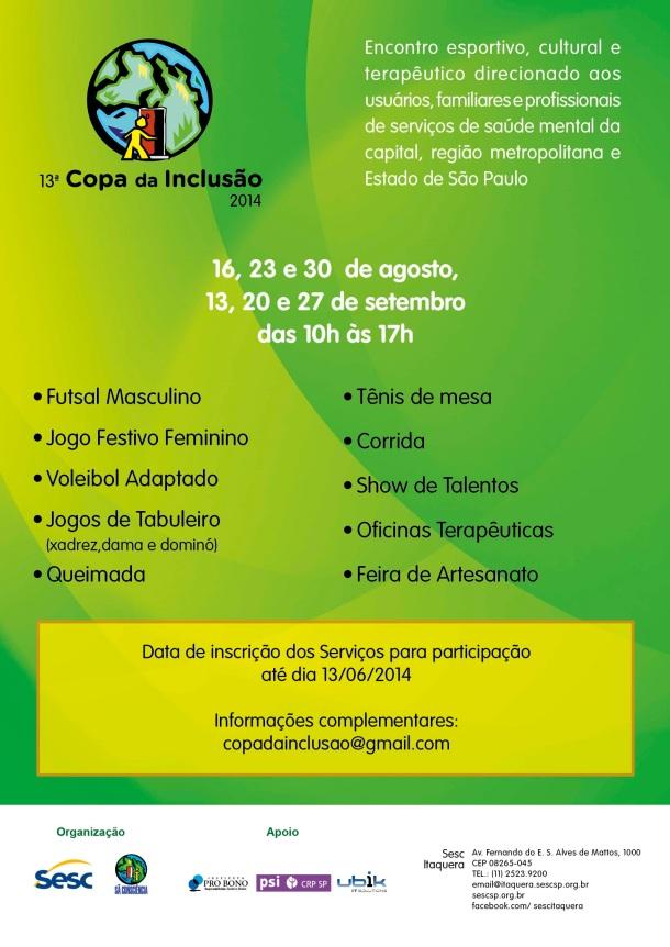 13ª Copa da Inclusão - 2014